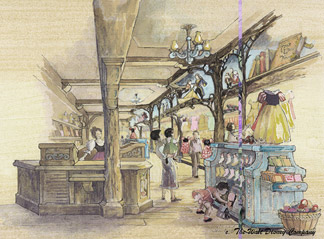 Disney Princess Shop Concept